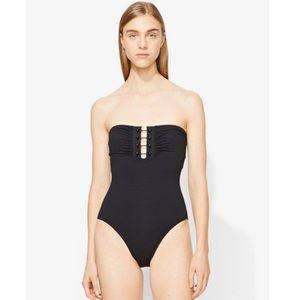 ccb0d72a3cf Proenza Schouler Swim - Provenza Schouler black bandeau strapless swim